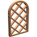 LEGO Copper Window 1 x 2 x 2.667 Pane Lattice Diamond with Rounded Top