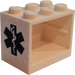 LEGO Cupboard 2 x 3 x 2 with EMT Star of Life Sticker with Solid Studs (4532)