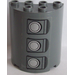 LEGO Cylinder 2 x 4 x 4 with Gas Tank Hatches Sticker (6218)