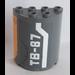 LEGO Cylinder 2 x 4 x 4 with 'TB-87' Sticker (6218)