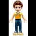 LEGO Daniel, Dark Blue Trousers, Orange and Bright Light Yellow Polo Shirt Minifigure