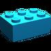 LEGO Dark Azure Brick 2 x 3 (3002)