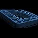 LEGO Dark Blue Beam 3 x 5 x 0.5 Bent 90 Quarter Ellipse (32250)