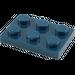 LEGO Dark Blue Plate 2 x 3 (3021)