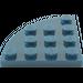 LEGO Dark Blue Plate 4 x 4 Corner Round (30565)