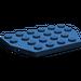 LEGO Dark Blue Plate 4 x 6 without Corners