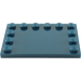 LEGO Dark Blue Tile 4 x 6 with Edge Studs (6180)