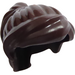 LEGO Dark Brown Minifigure Medium Ponytail with Long Bangs (18227 / 87990)