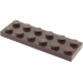 LEGO Dark Brown Plate 2 x 6 (3795)