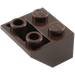 LEGO Dark Brown Slope 45° 2 x 2 Inverted (3660)