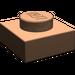 LEGO Dark Flesh Plate 1 x 1 (3024)