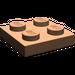 LEGO Dark Flesh Plate 2 x 2 (3022)