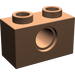 LEGO Dark Flesh Technic Brick 1 x 2 with Hole (3700)