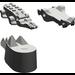 LEGO Dark Gray Animal Crocodile (Complete)