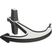 LEGO Dark Gray Boat Anchor (2564)