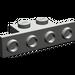 LEGO Dark Gray Bracket 1 x 2 - 1 x 4 without Rounded Corners (2436)