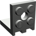 LEGO Dark Gray Bracket 2 x 2 - 2 x 2 Up (3956)