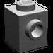 LEGO Dark Gray Brick 1 x 1 with Stud on One Side
