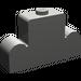 LEGO Dark Gray Brick 1 x 4 x 2 with Centre Stud Top (4088)