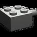 LEGO Dark Gray Brick 2 x 2 with Pin and No Axle Hole