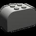 LEGO Dark Gray Brick 2 x 4 x 2 with Curved Top (4744)