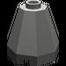 LEGO Dark Gray Cone 2 x 2 x 1 & 2/3 Octagonal (6039)
