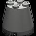 LEGO Dark Gray Cone 3 x 3 x 2 with Axle Hole