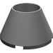 LEGO Dark Gray Cone 4 x 4 x 2 Hollow Studless (4742)