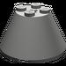 LEGO Dark Gray Cone 4 x 4 x 2 with Axle Hole (3943)