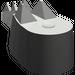 LEGO Dark Gray Crocodile Tail (6028)