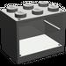 LEGO Dark Gray Cupboard 2 x 3 x 2 with Solid Studs (4532)