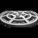 LEGO Dark Gray Dish 6 x 6 Inverted Webbed Type 2 (Squared Holder Underneath) (4285)