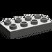 LEGO Dark Gray Duplo Plate 2 x 4 (40666)