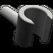 LEGO Dark Gray Minifig Hand (3820)