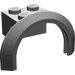 LEGO Dark Gray Mudguard with Round Arch 4 x 2 1/2 x 2
