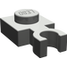 LEGO Dark Gray Plate 1 x 1 with Vertical Clip (Thin 'U' Clip) (4085)