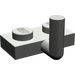 LEGO Dark Gray Plate 1 x 2 with Hook (5mm Horizontal Arm)