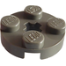 LEGO Dark Gray Plate 2 x 2 Round with Axle Hole (with '+' Axle Hole) (4032)