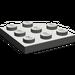LEGO Dark Gray Plate 3 x 3 Corner Round (30357)