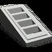 LEGO Gris foncé Pente 1 x 2 x 0.6 (18°) avec Grille