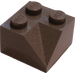 LEGO Dark Gray Slope 2 x 2 (45°) with Double Concave (Rough Surface) (3046)