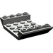 LEGO Dark Gray Slope 4 x 6 45° Double Inverted with Open Center 3 x Ø4.9 Holes