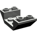 LEGO Dark Gray Slope 45° 4 x 2 Double Inverted with Open Center (4871)