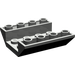 LEGO Dark Gray Slope 45° 4 x 4 Double Inverted with Open Center (No Holes) (4854)