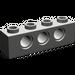LEGO Dark Gray Technic Brick 1 x 4 with Holes (3701)