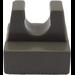 LEGO Dark Gray Tile 1 x 1 with Clip (No Cut in Center) (2555)