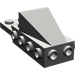 LEGO Dark Gray Wedge 2 x 3 with Brick 2 x 4 Side Studs and Plate 2 x 2 (2336)