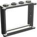 LEGO Dark Gray Window 1 x 4 x 3 with Shutter Tabs (3853)