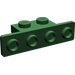 LEGO Dark Green Bracket 1 x 2 - 1 x 4 with Rounded Corners and Square Corners