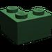LEGO Dark Green Brick 2 x 2 Corner